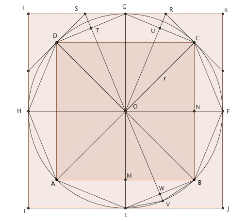 Circles And 16 Side Polygon Maths Roderickt