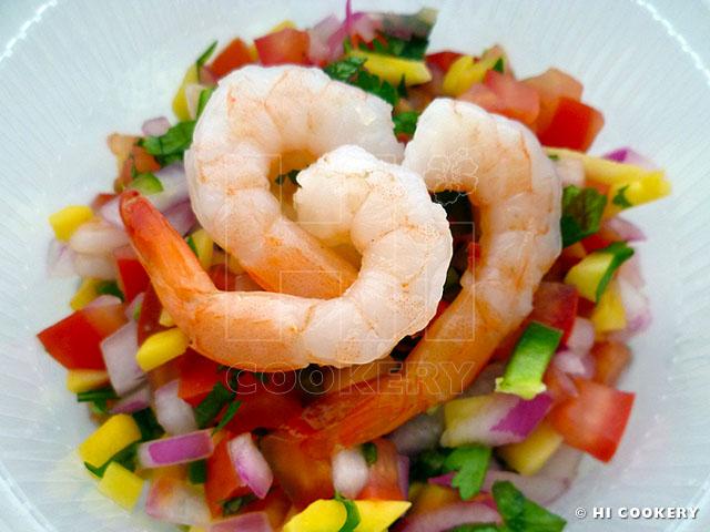 Ceviche Shrimp y Mango