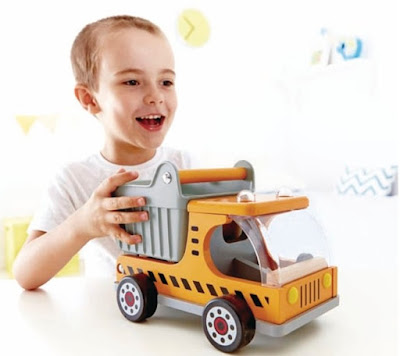 Xe ô tô tải bằng gỗ Hape Dumper Truck E3013A