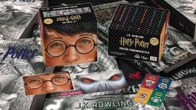 Box Harry Potter edição comemorativa de 20 anos em promoção