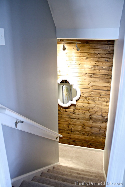 inexpensive wood planked wall