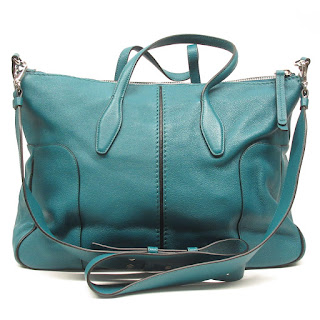 Tod's Teal Leather Crossbody Bag