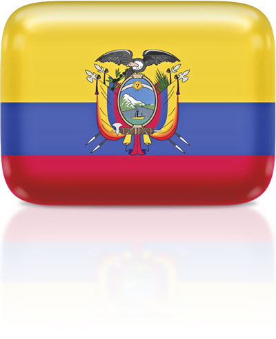 Ecuadorian flag clipart rectangular