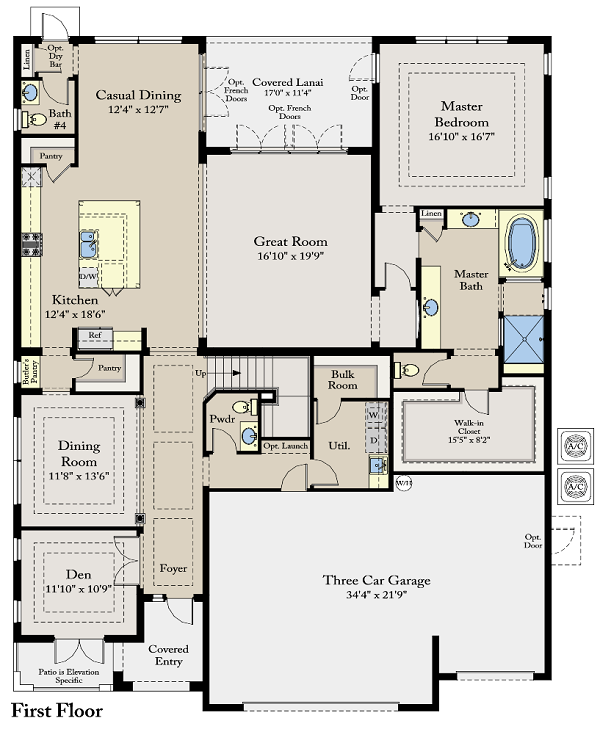 first floor plan watercrest at parkland bellingham home design - Home Design Construction