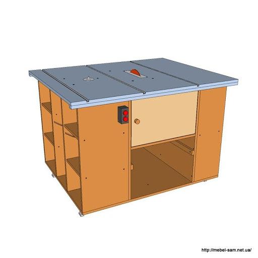 Модель стола в сборе