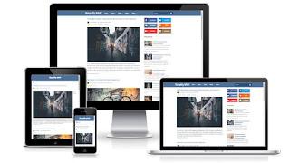 Social FV - бесплатный шаблон для blogger - blogspot 2016
