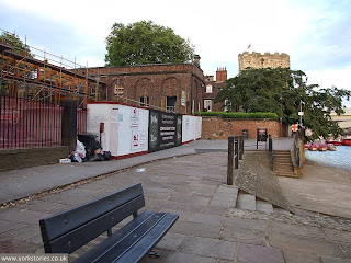 Leaping forward to August 2013, with building work well underway on the engine house restaurant development, in the shadow of Lendal Tower