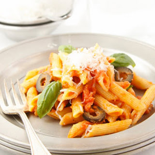 Penne with Tomatoes and Olives.