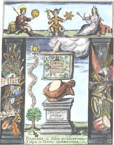 Engraving 1 From Ashmole Theatrum Chemicum Britannicum 1652, Alchemical And Hermetic Emblems 1