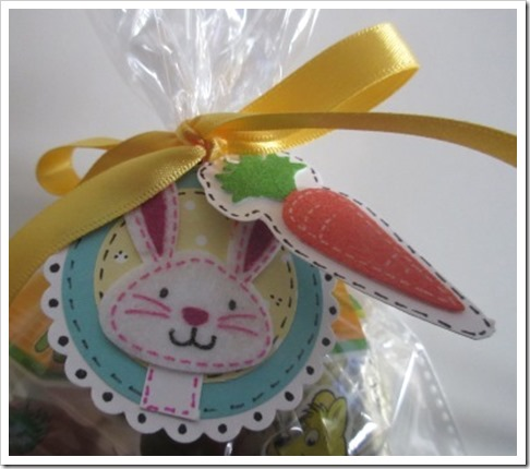 Easter Bunny Gift Tag with carrot