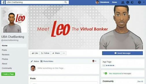 """Meet """"Leo"""", The Robot In Charge Of UBA Facebook Chat For E-Banking"""