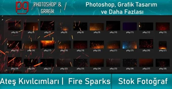 Ateş Kıvılcım Fotoğrafları İndir   Fire Sparks Photos