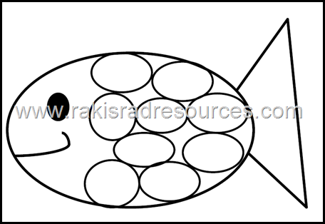 Free rainbow fish template from Raki's Rad Resources