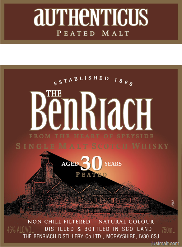 The BenRiach Authenticus Peated Malt 30-Year