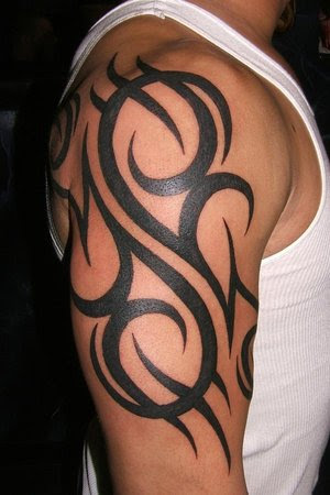 Half Sleeve Tribal Tattoo Design