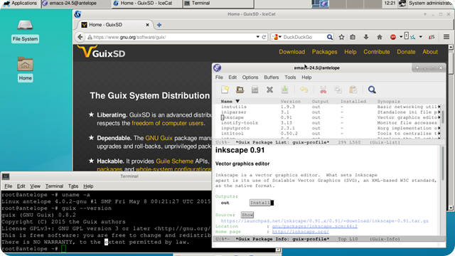 How to install GuixSD Linux distribution built around the