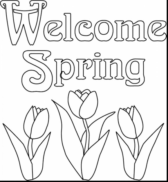 Stunning Spring Flower Coloring Pages For Kids With Spring Coloring Pages  To Print And Spring Coloring
