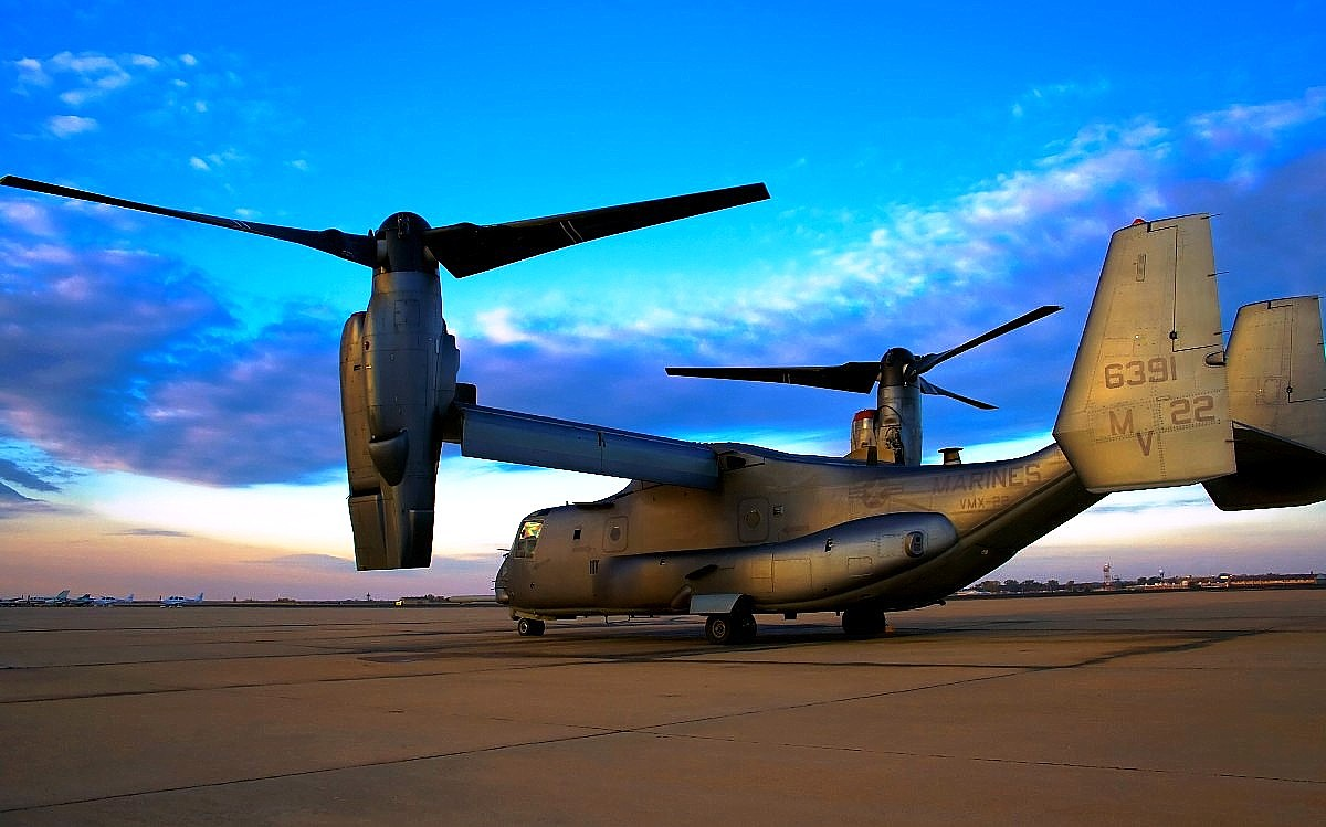 V-22 Osprey Tiltrotor Aircraft Wallpaper 4