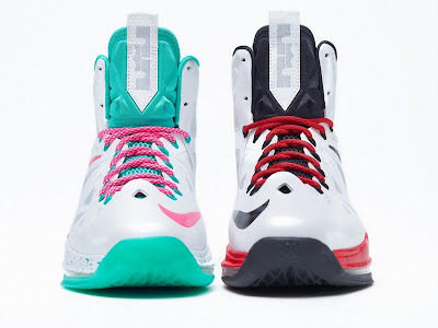 nike lebron 10 id sample teal 1 06 Two LeBron X iD Samples: White/Teal/Pink & USA Alternate