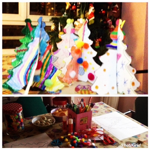 Manualidades niños, arbolito Navidad