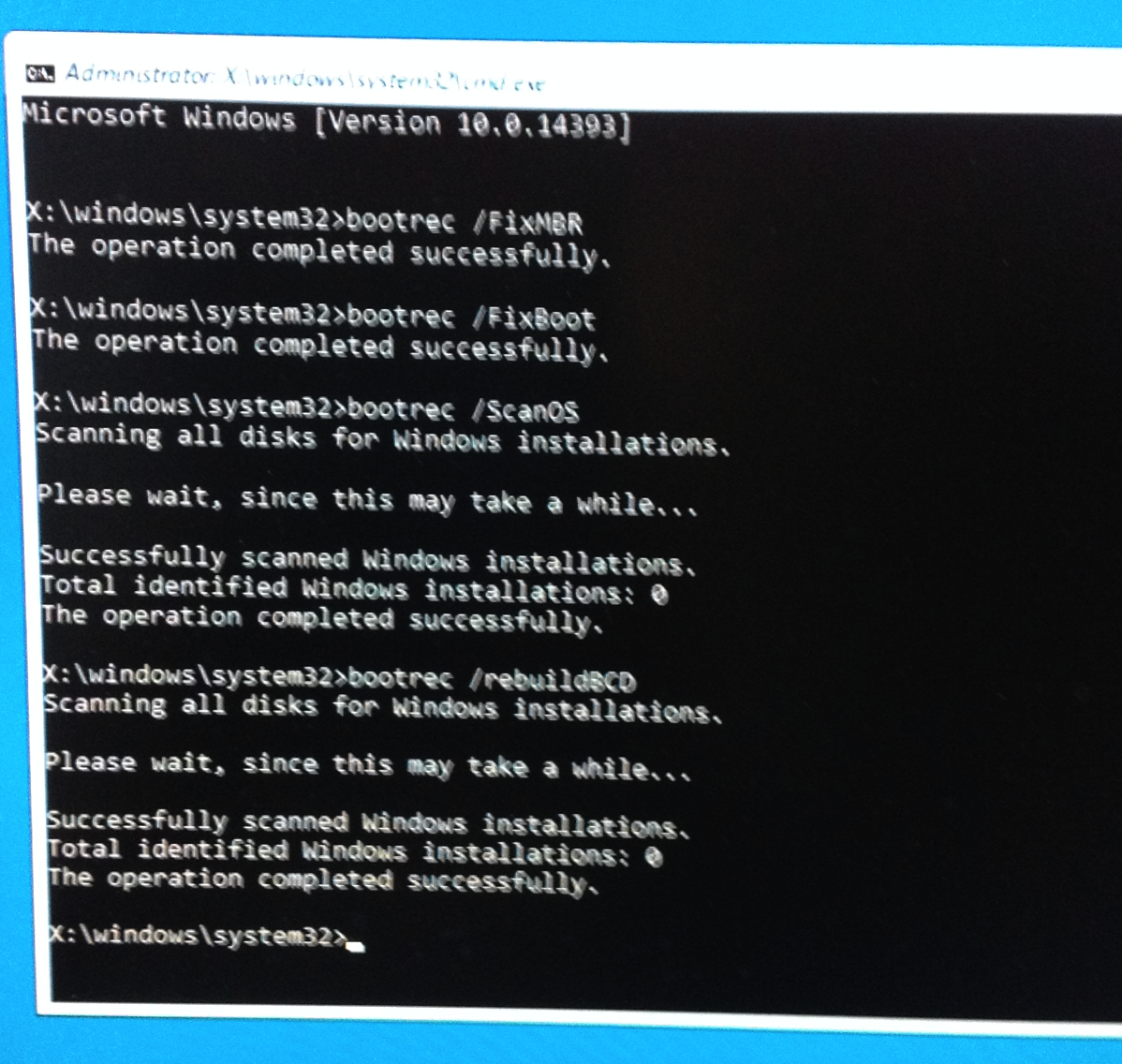 Figure 6 Command Prompt wizardry with 4 commands
