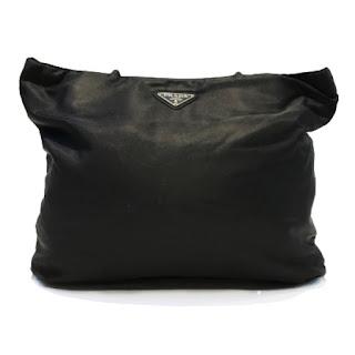 Prada Black Nylon Shoulder Tote