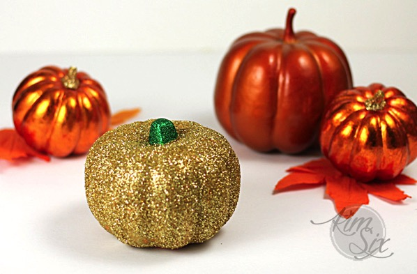 Gold Sparkly DIY pumpkin