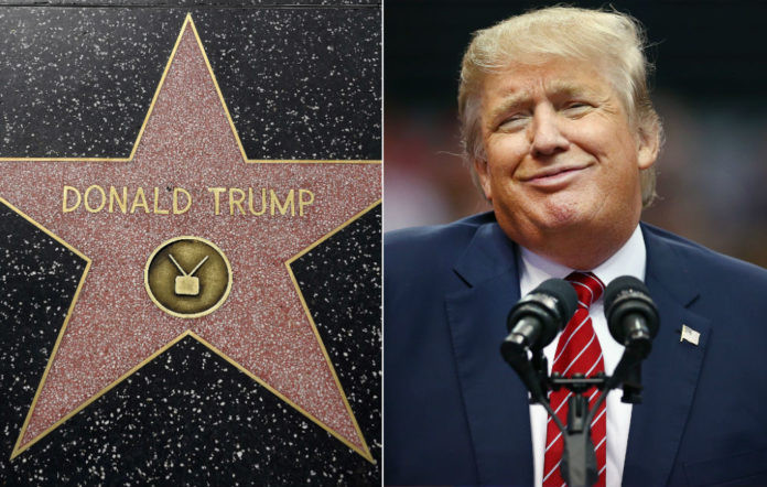 Donald Trump's Hollywood Walk of Fame star covered in dog poop