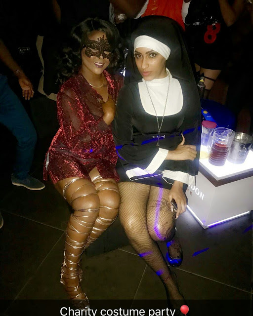 Juliet Ibrahim Steps Out Dressed As 'Sexy Catholic Nun' For Annual Charity Costume Party