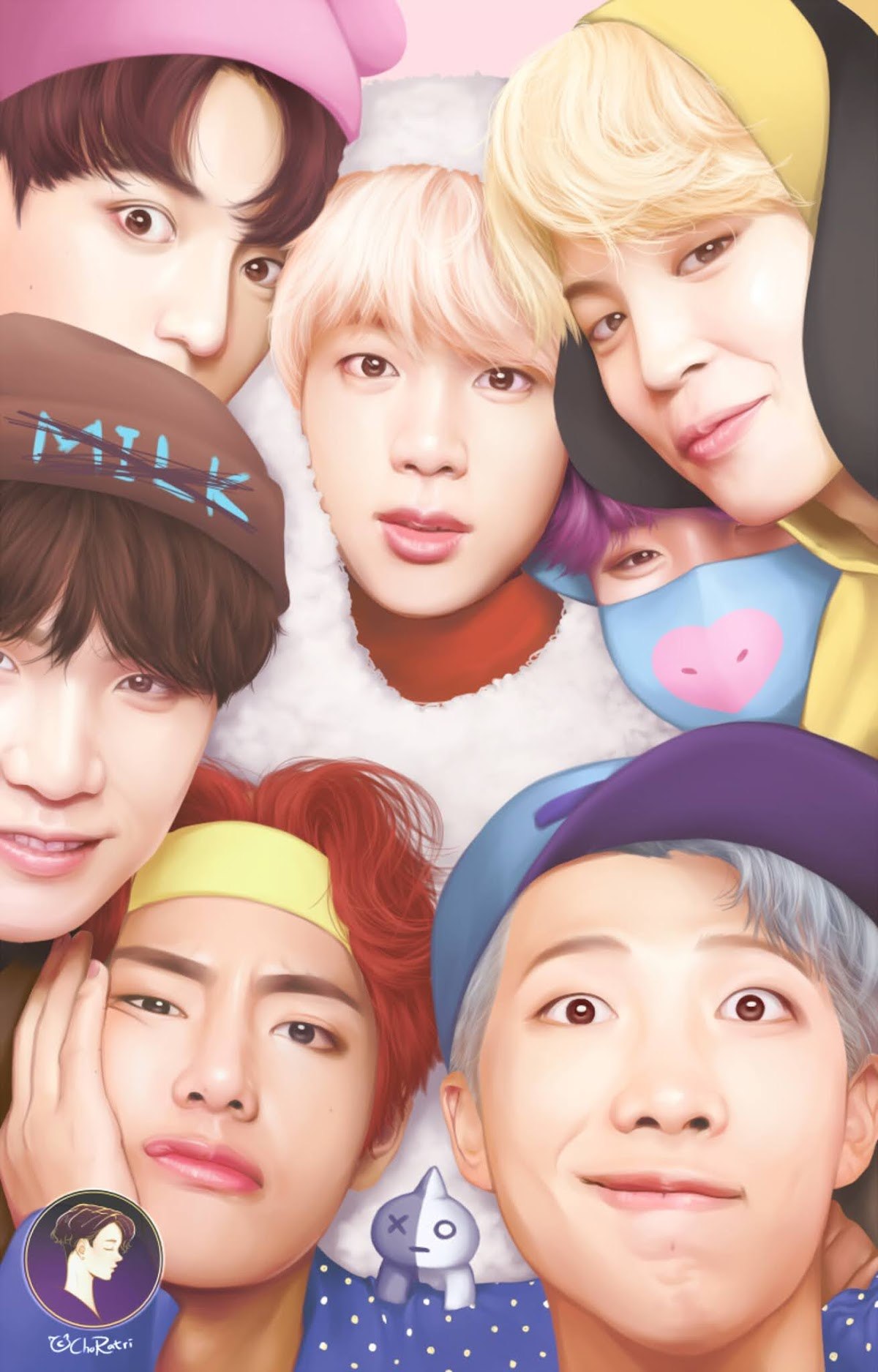 Download Wallpaper BTS as BT21 Wallpaper HD Free