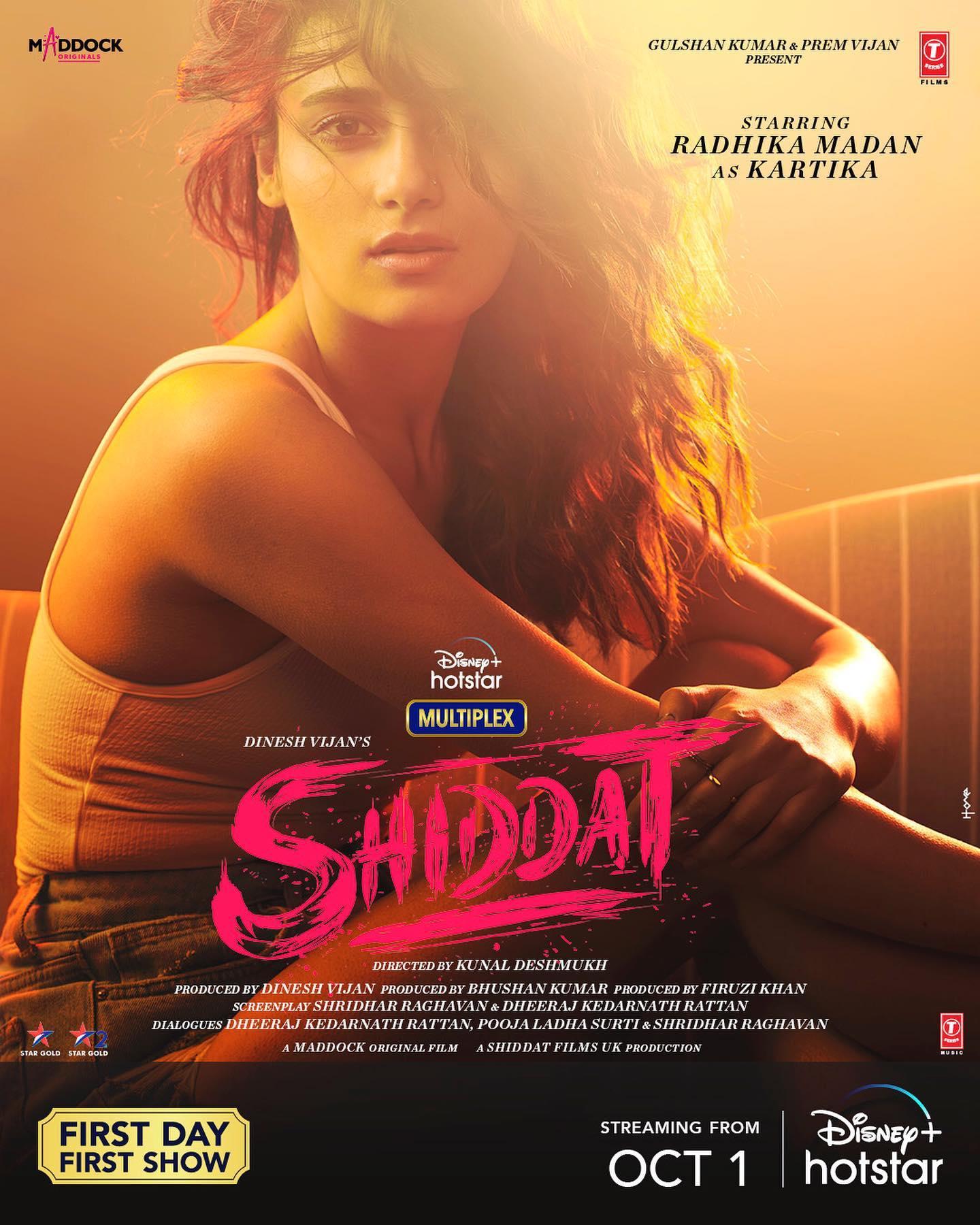 Radhika Madan dalam Poster Film Shiddat