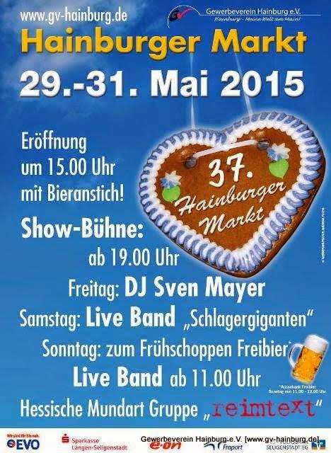 Plakat zum Hainburger Markt 2015