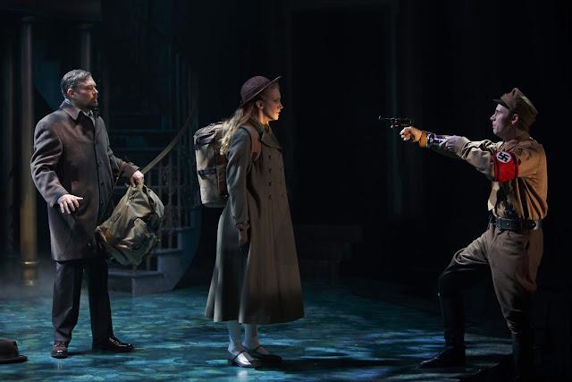 From left: Ben Carlson as Captain von Trapp, Alexandra Herzog as Liesl von Trapp and Gabriel Antonacci as Rolf Gruber in The Sound of Music. Photography by David Hou.