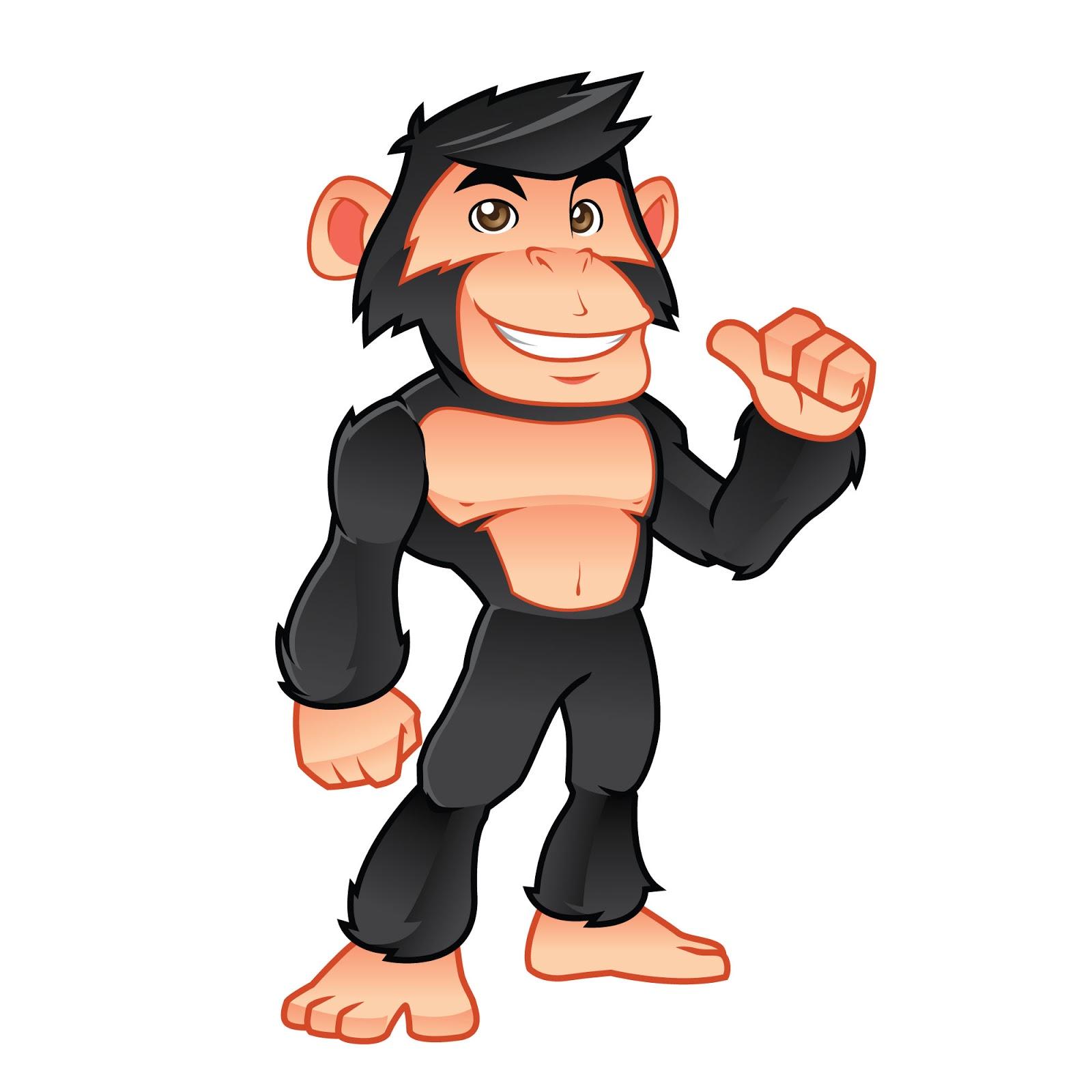 Chimp Mascot Logo Free Download Vector CDR, AI, EPS and PNG Formats