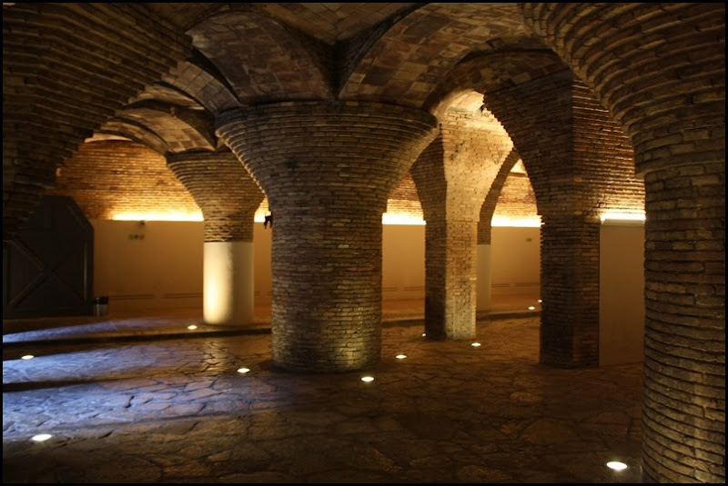 The Basement in Antonio Gaudi's Palau Guell
