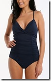 Seafolly Navy Ruched Maillot