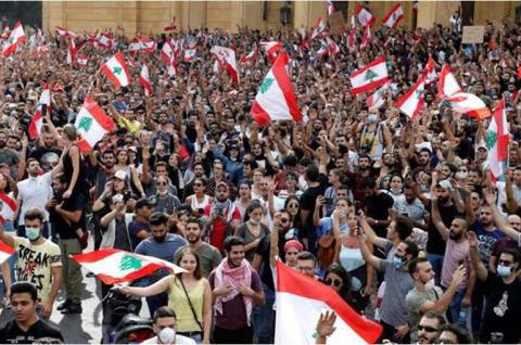بن سلمان وأمير قطر يشعلان تظاهرات لبنان من جديد شاهد