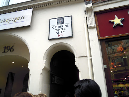 Catherine Wheel Alley sign, from the Jack the Ripper walking tour, one of the best walking tours in London