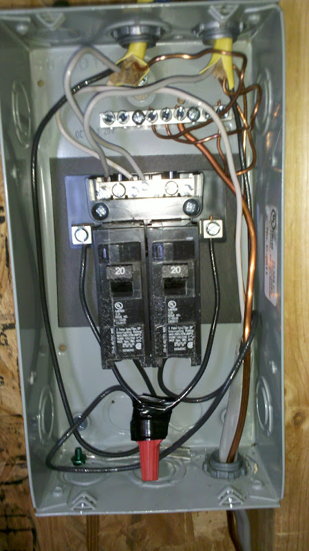Electrical Panel And Subpanel With Cover Removed From Subpanel