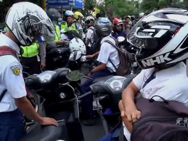 Ratusan Pelajar SMP di Jombang Terjaring Razia Motor