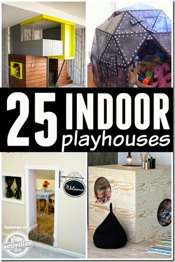 25 super creative indoor playhouse Ideas for kids! Great for kids of all ages.