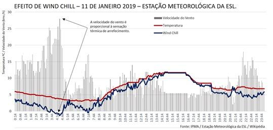 Wind Chill - MeteoESL 11 janeiro 2019