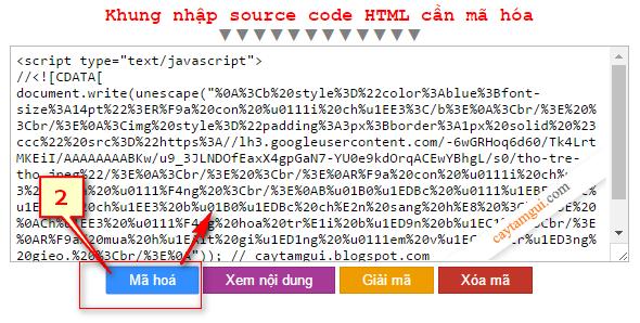 Tool mã hóa ký tự giấu source code HTML (Level 1)