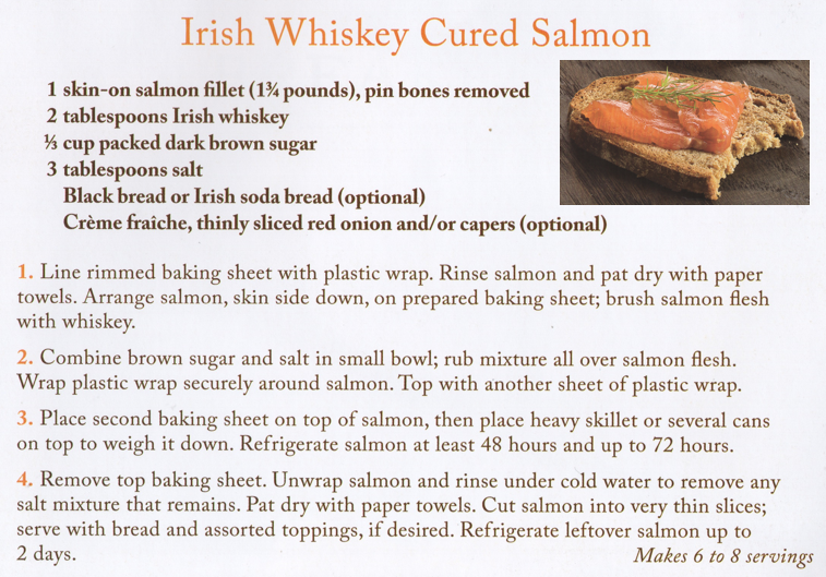 Irish Whiskey Cured Salmon