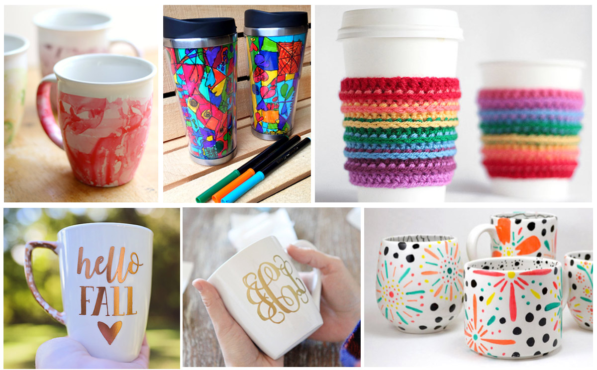 15 ways to personalize coffee mugs