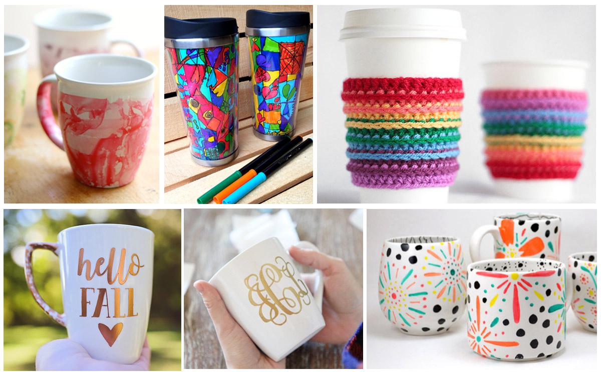 15 ways to personalize coffee mugs