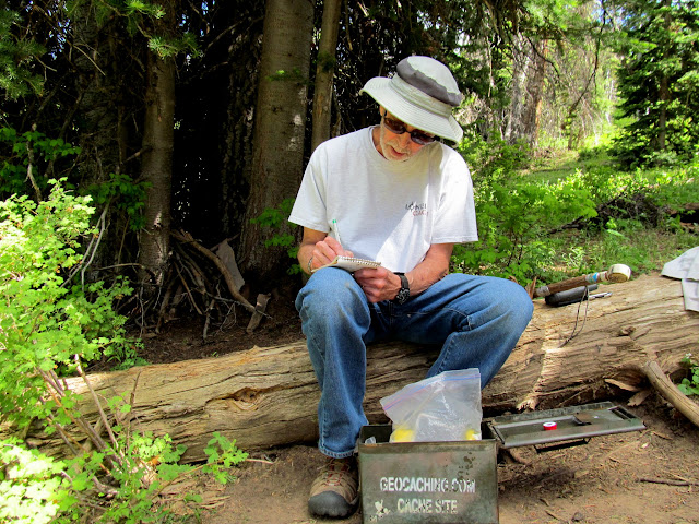 Tom at the oldest geocache in Utah, also his 4,000th find