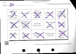Pop Bingo Card