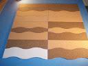 Pinnwand Korkplatte ca Wahl incl Kleber Tesa Powerstrips 94x 58cmStärke 5mm2