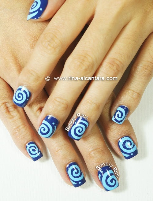 Round and Round Nail Art Design by Simply Rins